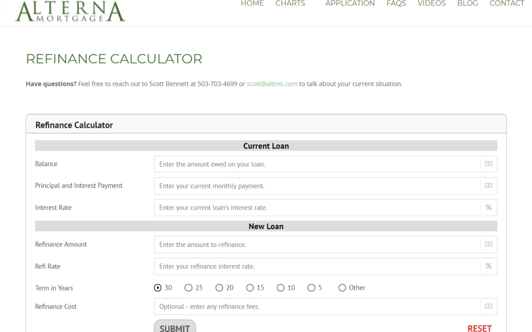 Announcing our Refinance Calculator